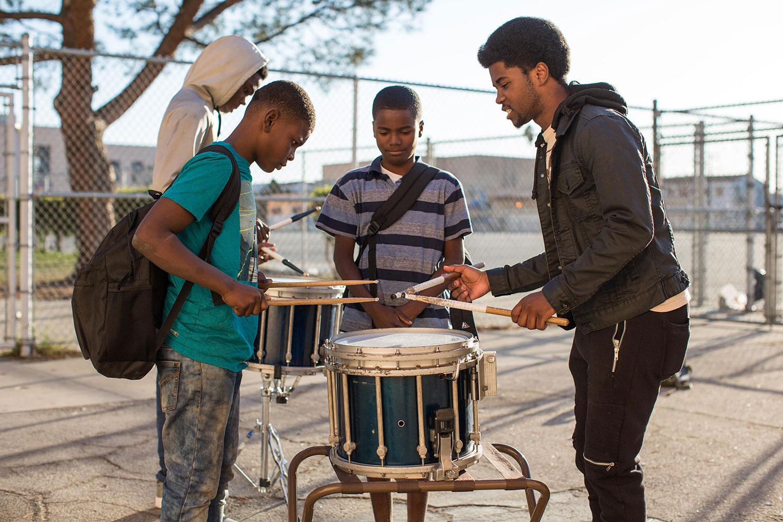 boys drumming